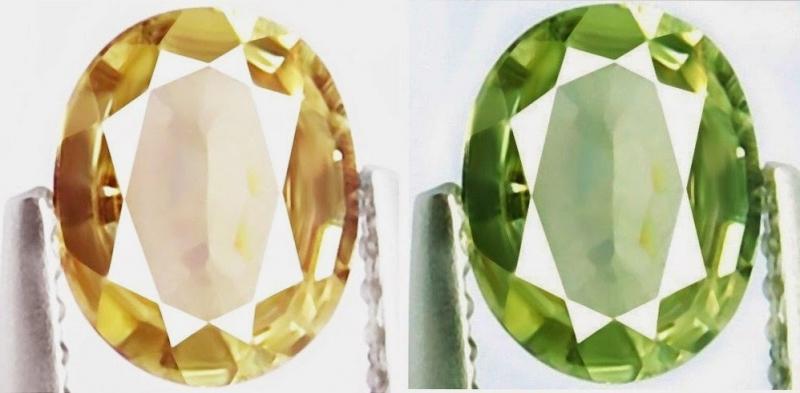 Зеленый и коричневый камень султанит