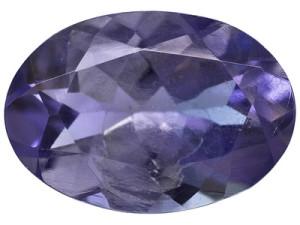 Ограненный камень иолит