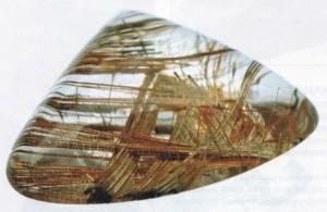 Прозрачный кварц с вкраплением в виде волос венеры