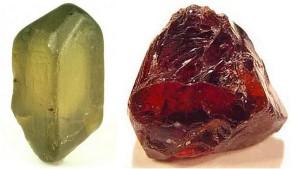 Два вида не обработанного кристалла