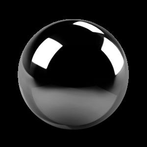 Шарик из черного агата