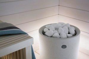 Белый кварц для бани