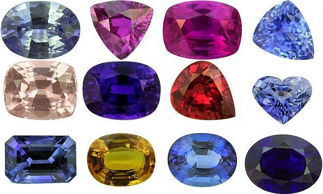 Цветовая гамма камней